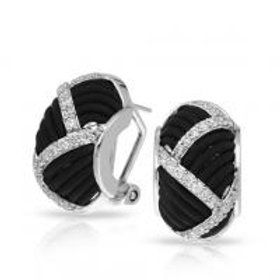 Striatta Black Earrings