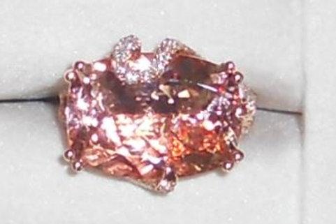 MORGANITE RING 14 KT ROSE GOLD