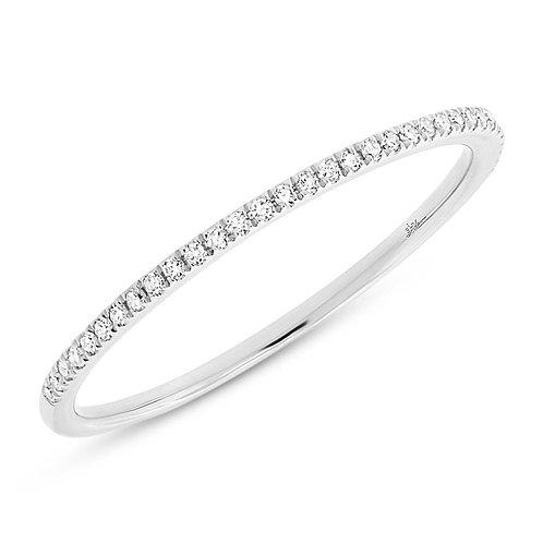 0.10ct 14k White Gold Diamond Lady's Band Size 8