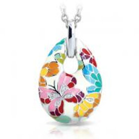 Butterfly Kisses Ivory Pendant