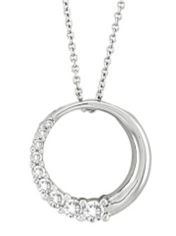 DIAMOND HALF JOURNEY CIRCLE PENDANT