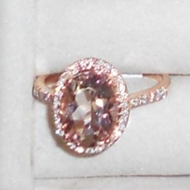 MORGANITE RING 14KT ROSE GOLD