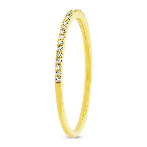 0.10ct 14k Yellow Gold Diamond Lady's Band Size 6