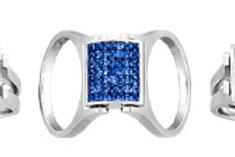 DIAMOND & SAPPHIRE CONVERTIBLE RING