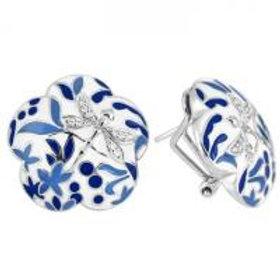 Porcelain Cobalt Earrings