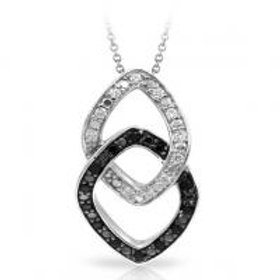 Duet Black and White Pendant