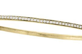 DIAMOND BANGLE WITH DIAMONDS ON TOP