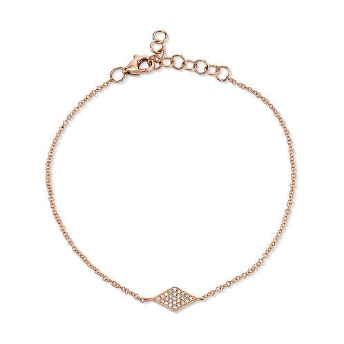 Rose Gold Diamond Pave Diamond Bracelet
