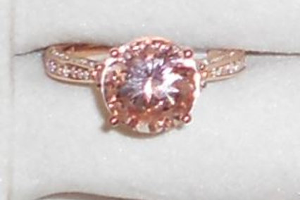 MORGANITE RING 14KT ROSE GOLD