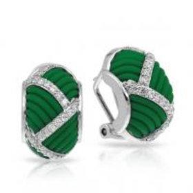Striatta Green Earrings