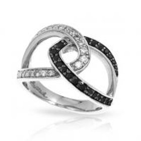 Duet Black and White Ring