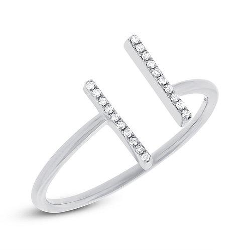0.06ct 14k White Gold Diamond Lady's Ring