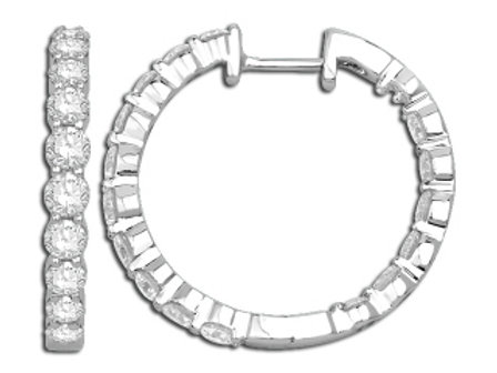 DIAMOND 20MM PRONG SET IN & OUT HOOP