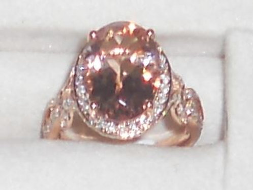 MORGANITE RING 14 KT ROSE GOLD