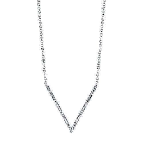 0.12ct 14k White Gold Diamond Necklace