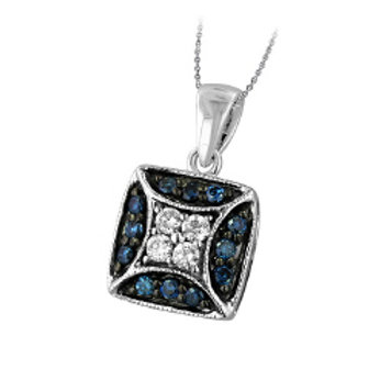 BLUE & WHITE DIAMOND SQUARE PAVE PDT
