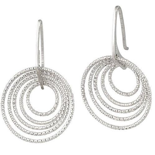 3D Circle Earrings