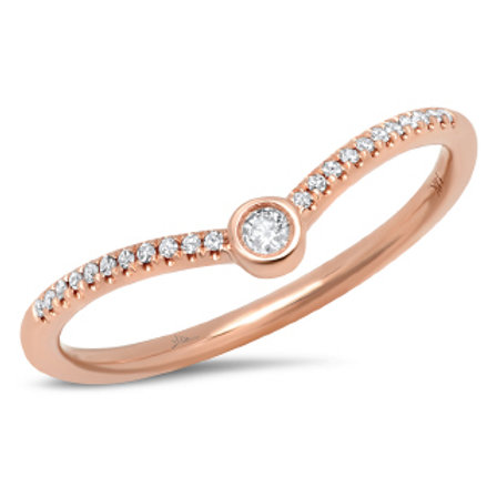 0.09ct 14k Rose Gold Diamond Lady's Ring