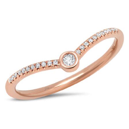 0.09ct 14k Rose Gold Diamond Lady's Ring