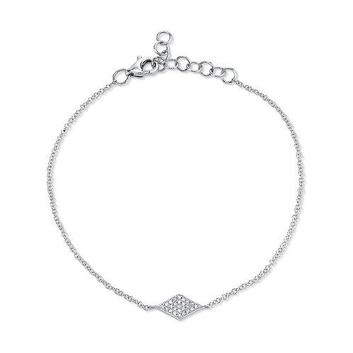 White Gold Diamond Pave Diamond Bracelet
