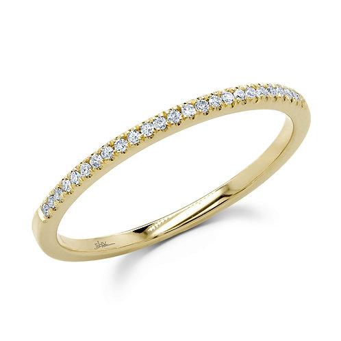 0.08ct 14k Yellow Gold Diamond Lady's Ring