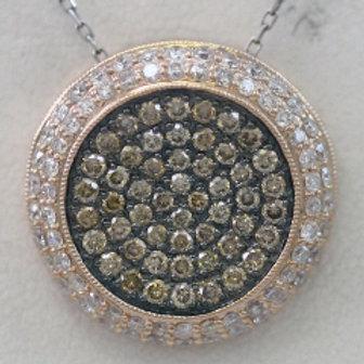 BROWN & WHITE DIAMOND PAVE PENDANT