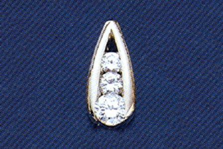 "DIAMOND 3 STONE ""LADDER"" PENDANT"