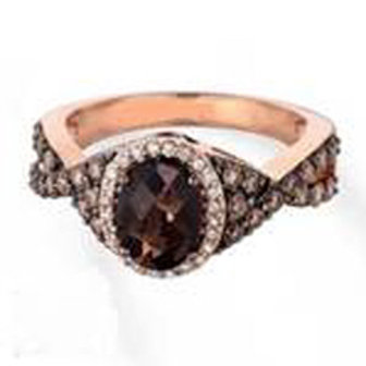 BROWN & WHITE DIAMOND FASHION RING