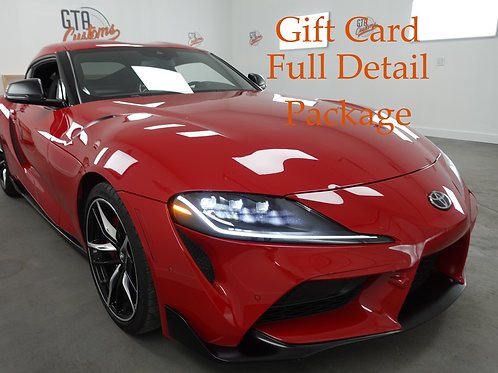 Gift Card Full Detail Package