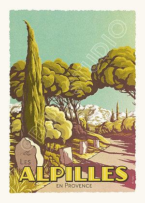 Affiche les Alpilles
