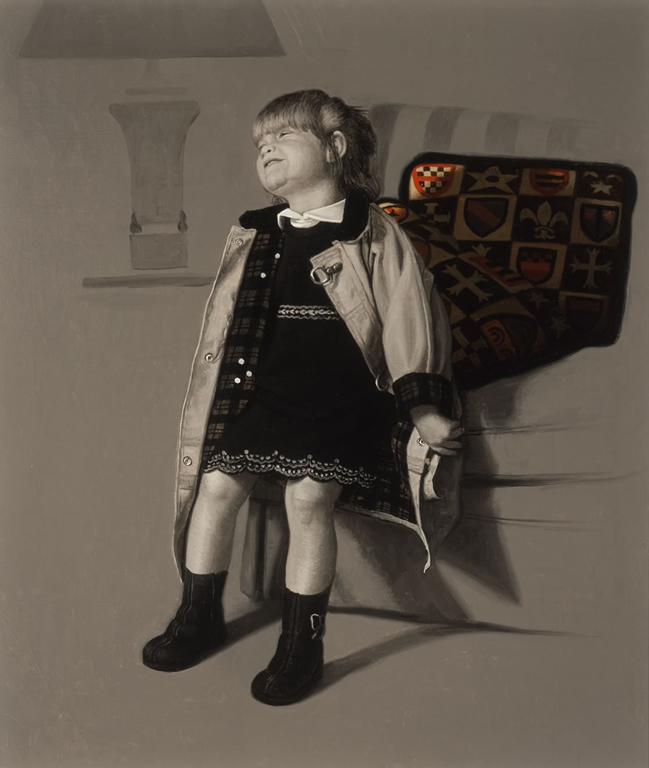 STUDY FOR THE ELGART SIBLINGS, EVELYN (2000)