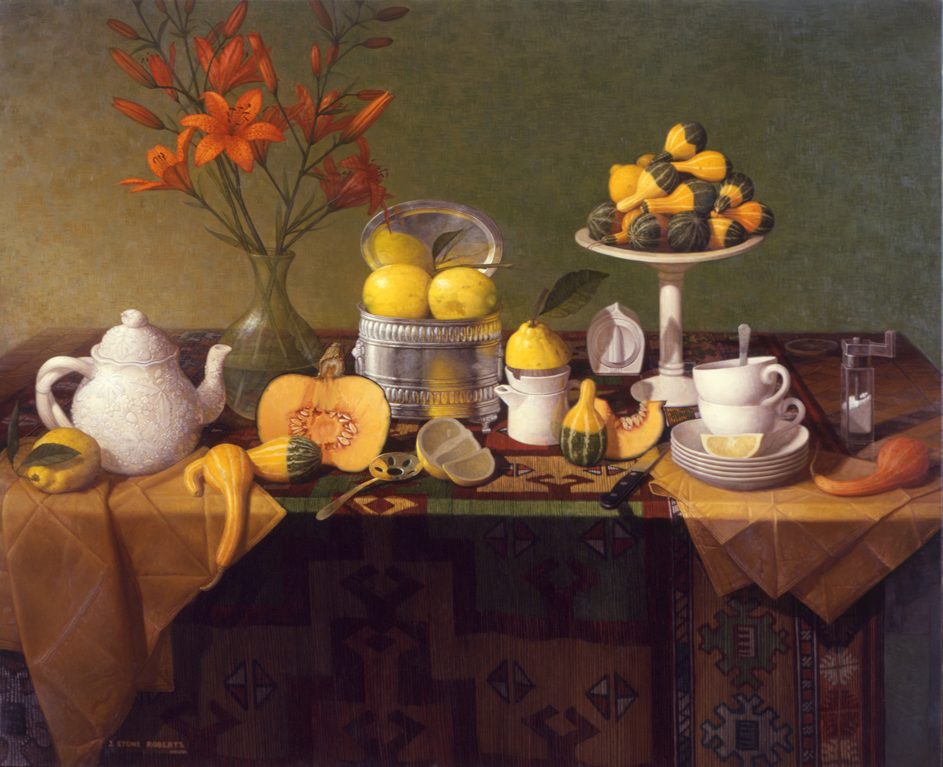 LEMONS, LILIES AND GOURDS (1986/87)