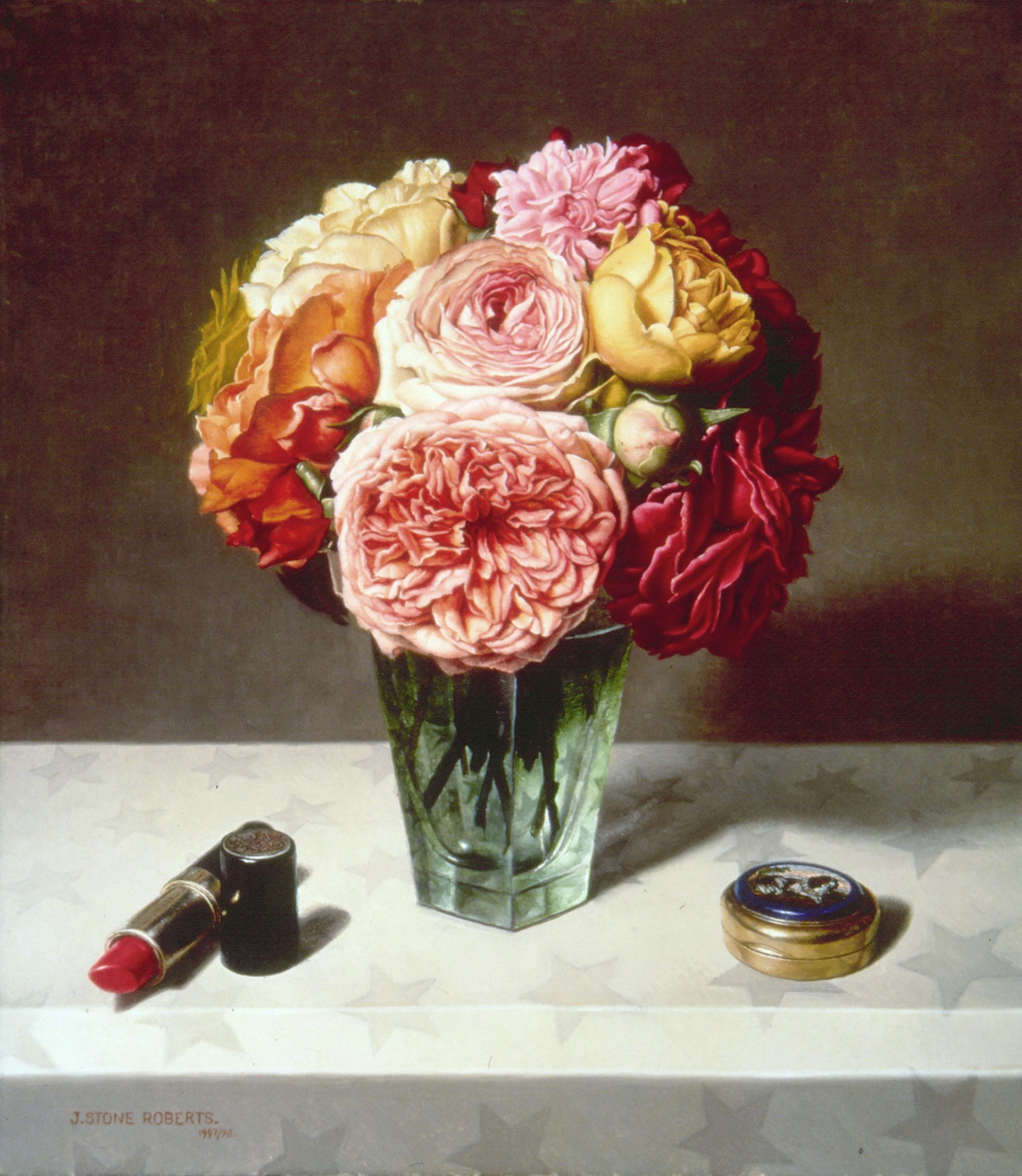 LIPSTICK, PILL BOX AND GARDEN ROSES (1997/98)