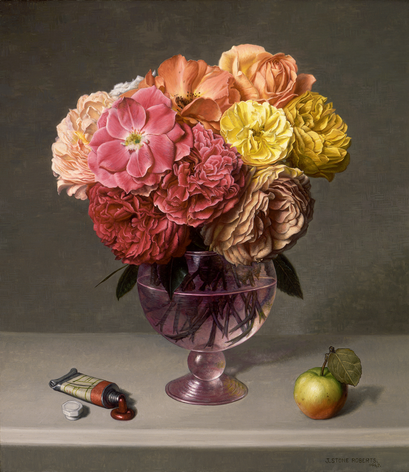ROSES, APPLE AND PAINT TUBE (1996/97)