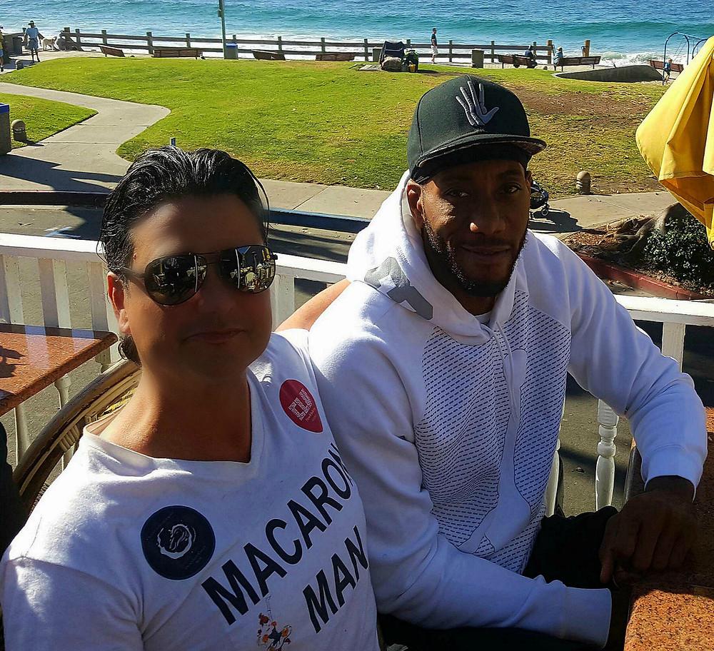 "Restaurateur Antonio Mecheri and Kawhi Anthony Leonard From The San Antonio Spurs ""NBA"" Basketball Player"