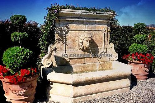 LIMESTONE FOUNTAINS / MARBLE & BRONZE - CENTRAL / SHAFT / MURAL / STAND