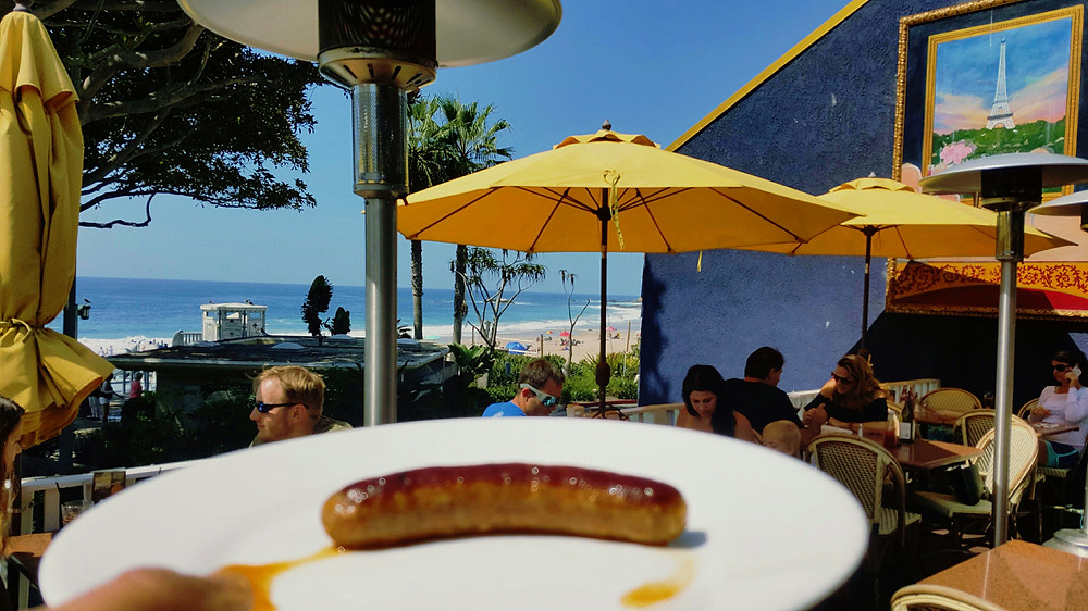 Merguez Appetizer by Restaurateur Antonio Mecheri  at C'est La Vie Restaurant, Laguna Beach, California