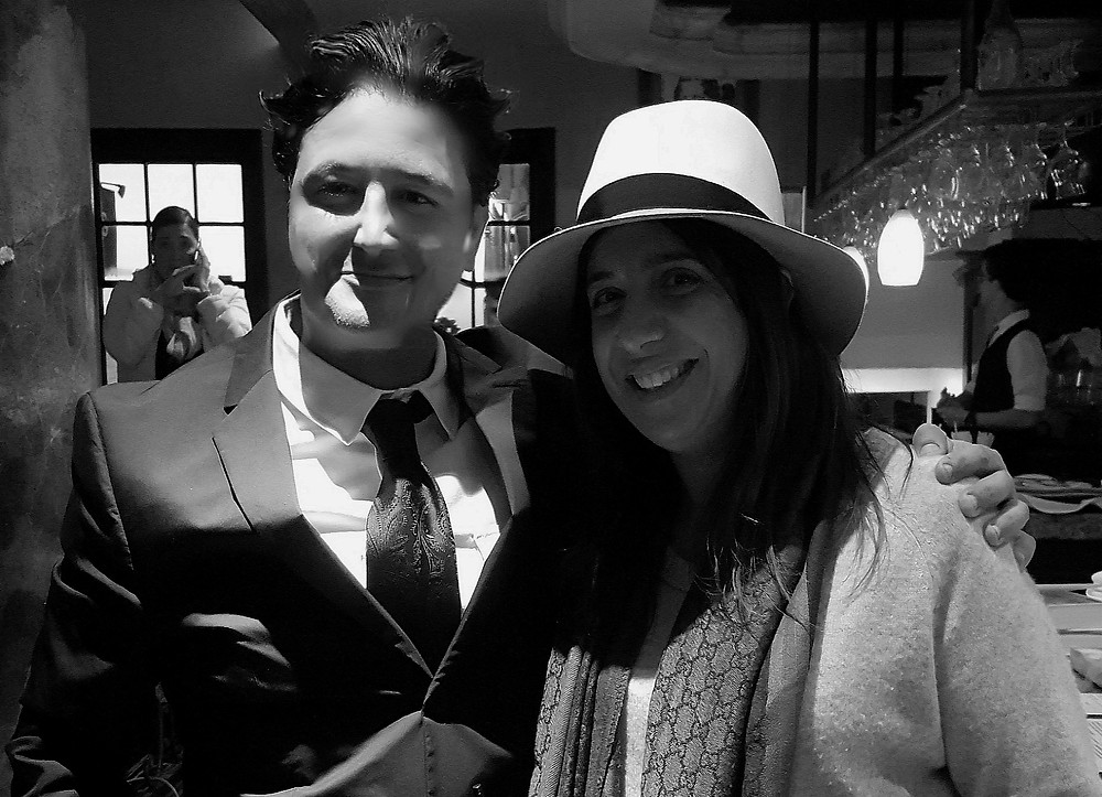 "Executive Director Laura Korkoian ""Emmy Award Winner Reality Show, Born This Way"" with Restaurateur Antonio Mecheri"
