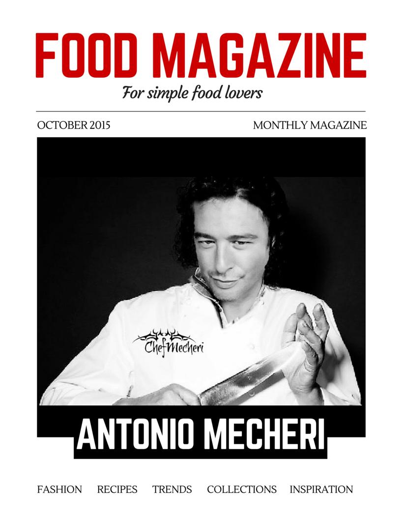 Antonio Mecheri Food and Beverage Magazine