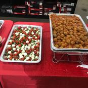Caprese Salad & Mini Meatballs