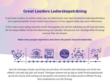 Höstens ledarskapsutbildningar drar igång!