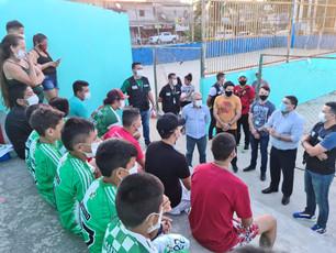 Caio André visita espaços esportivos da zona Norte e confirma reforma da Arena do Monte