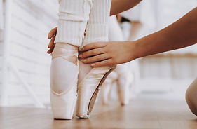 Close up. Ballet Training of Young Girls
