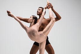 Canva - Couple of ballet dancers posing