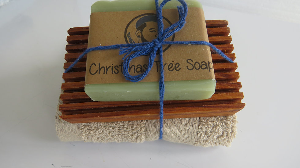 Soap, Flannel and Dish Set