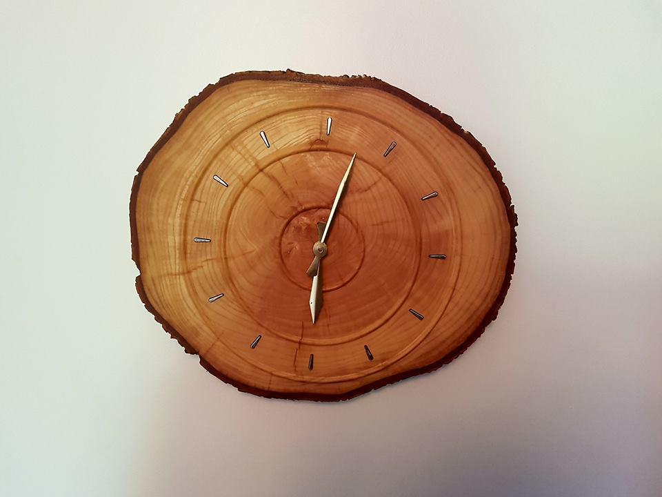 End Grain Clock