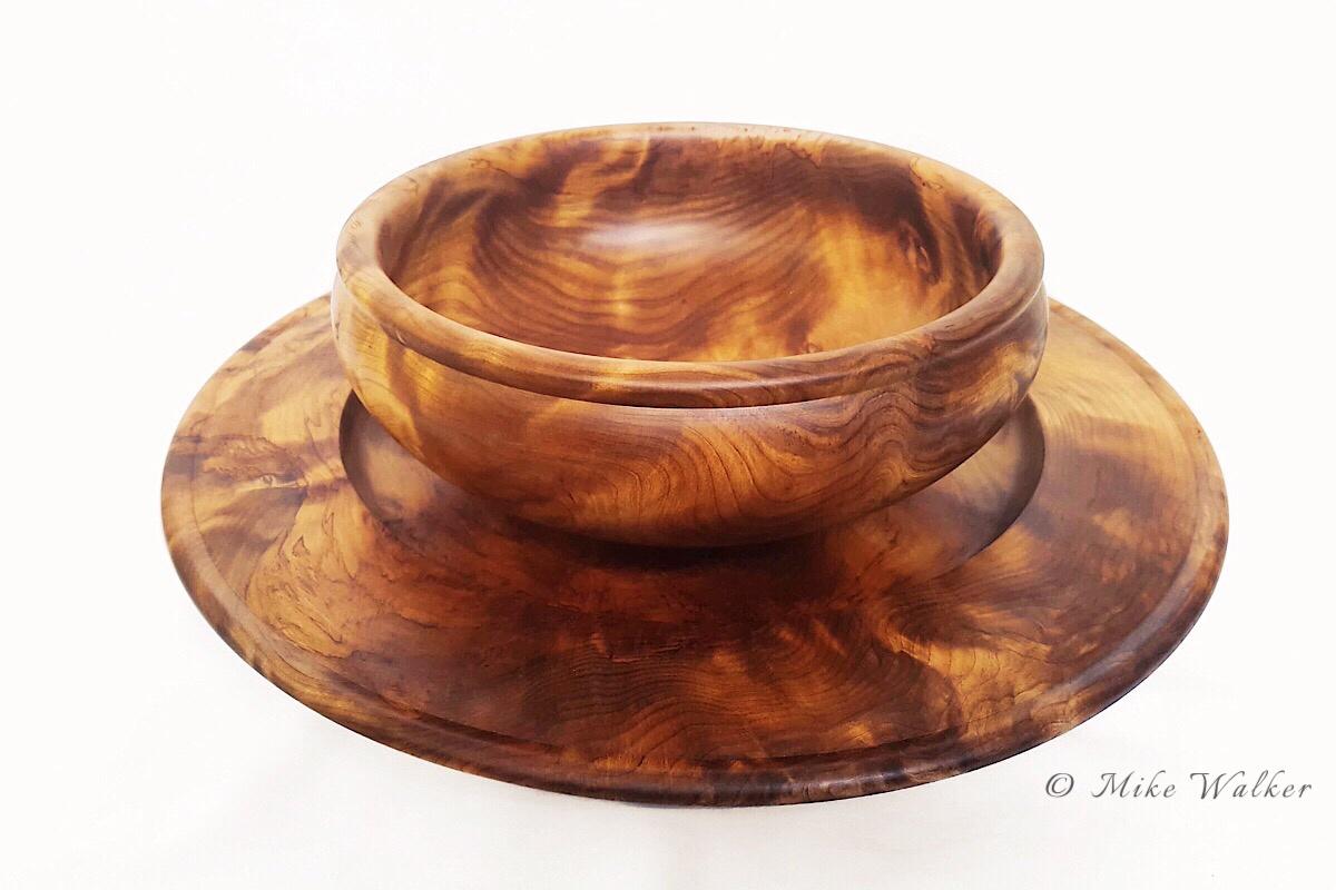 Rimu Burl Platter & Bowl