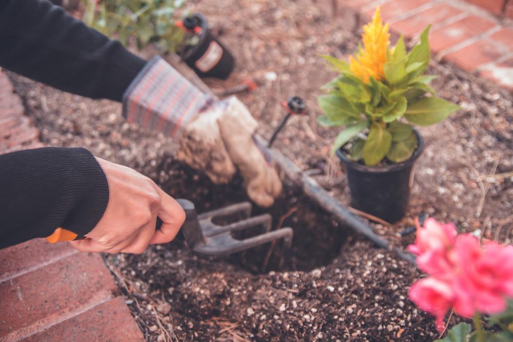 Gardening self care for moms