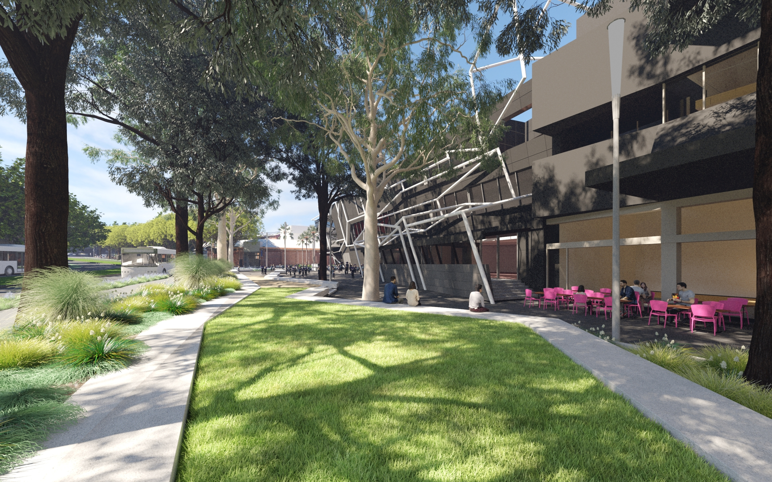 New public open space and trees from Sturt Street to St Kilda Road MTC MRC