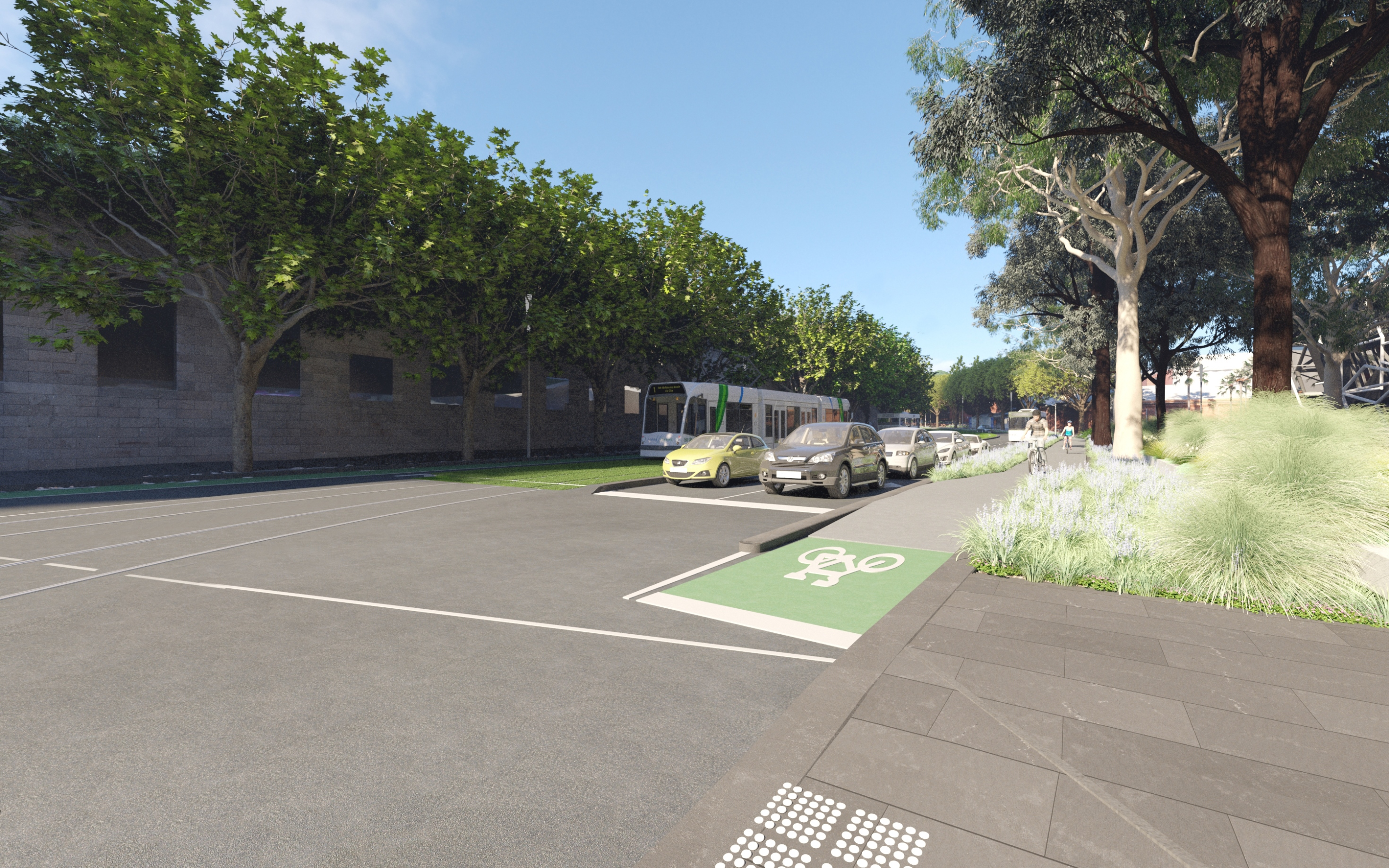 New bike lanes and biodiversity from Sturt Street to St Kilda Road